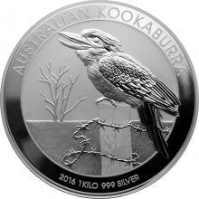 Stříbrná investiční mince Kookaburra Ledňáček 1 Kg 2016