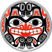 Stříbrná mince kolorovaná Haida Medvěd Grizzly 1 Oz 2020 Proof