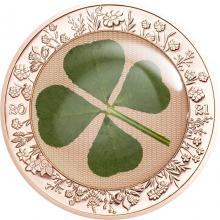 Strieborná mince Štvorlístok Unca šťastie 1 Oz 2021 Proof