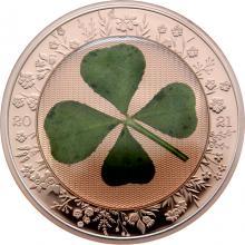 Stříbrná mince Čtyřlístek Unce štěstí 1 Oz 2021 Proof