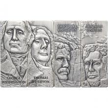 Sada štyroch strieborných mincí Mount Rushmore 2021 Antique Standard