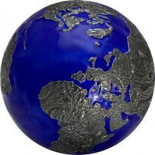 Stříbrná mince 3 Oz The Blue Marble - planeta Země v noci 2021 Antique Standard