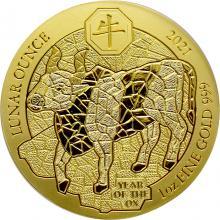 Zlatá mince Rok Buvola Rwanda 1 Oz 2021