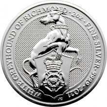 Stříbrná investiční mince The Queen´s Beasts The White Greyhound 2 Oz 2021