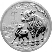 Stříbrná investiční mince Year of the Ox Rok Buvola Lunární 1/2 Oz 2021