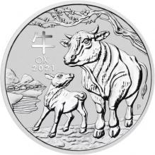 Stříbrná investiční mince Year of the Ox Rok Buvola Lunární 1 Oz 2021