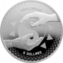 Strieborná investičná minca Equilibrium Tokelau 1 Oz 2020