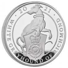 Strieborná minca 5 Oz White Greyhound of Richmond 2021 Proof