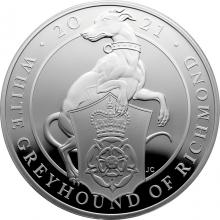 Stříbrná mince 5 Oz White Greyhound of Richmond 2021 Proof