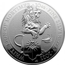 Stříbrná investiční mince The Queen´s Beasts The White Lion 10 Oz 2021