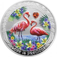 Stříbrná mince Plameňáci 1 Oz Love is Precious 2021 Proof