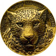 Zlatá minca Leopard The African Big Five High Relief 1 Oz 2021 Antique Standard