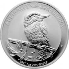 Stříbrná investiční mince Kookaburra Ledňáček 1 Oz 2021