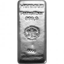 500g Argor Heraeus / Heraeus Investiční stříbrný slitek