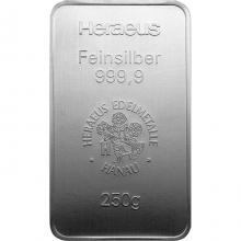 250g Argor Heraeus / Heraeus Investiční stříbrný slitek
