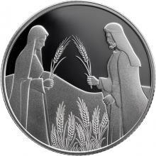 Strieborná minca Rút na Boazovom poli 2 NIS Izrael Biblické umenia 2020 Proof