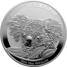 Strieborná investičná minca Koala 10 Oz 2014