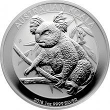 Stříbrná investiční mince Koala 1 Oz 2018