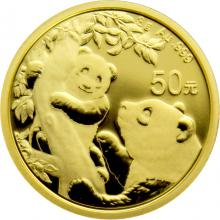 Zlatá investiční mince Panda 3g 2021