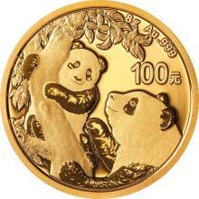 Zlatá investiční mince Panda 8g 2021