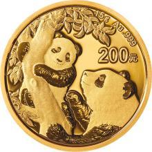 Zlatá investiční mince Panda 15g 2021