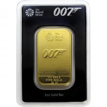 31,1g The Royal Mint - James Bond 007 Investiční zlatý slitek