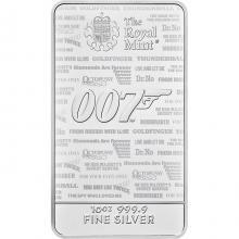 311g The Royal Mint - James Bond 007 Investiční stříbrný slitek