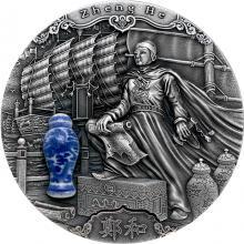 Stříbrná mince Slavní průzkumníci - Čeng Che 2 Oz 2020 Antique Standard