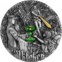 Stříbrná pozlacená mince Zaklínač - Meč osudu 2 Oz High Relief 2020 Antique Standard