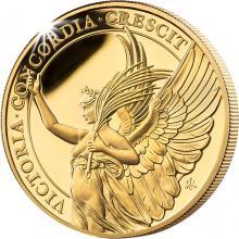 Zlatá mince Ctnosti královny - Vítězství 1 Oz 2021 Proof