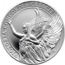 Stříbrná mince Ctnosti královny - Vítězství 1 Oz 2021 Proof