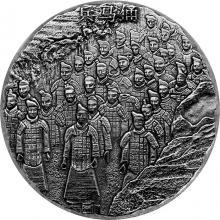 Stříbrná investiční mince 5 Oz Terakotová armáda 2020 Antique Standard