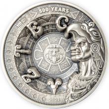Stříbrná mince 1 kg 500 let od pádu Aztécké říše 2021 Antique Standard