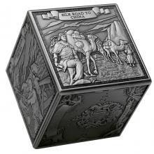 Strieborná minca kocka 1 kg Marco Polo 2021 Antique Štandard