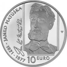 Stříbrná mince Janko Matúška - 200. výročí narození 2021 Proof