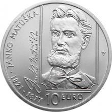 Stříbrná mince Janko Matúška - 200. výročí narození 2021 Standard