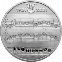 Stříbrná mince Vznik Pěveckého sboru slovenských učitelů - 100. výročí 2021 Proof