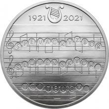 Stříbrná mince Vznik Pěveckého sboru slovenských učitelů - 100. výročí 2021 Standard