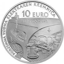 Strieborná minca Podzemná vodná elektráreň v Kremnici - 100. výročie 2021 Proof