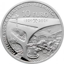 Stříbrná mince Podzemní vodní elektrárna v Kremnici - 100. výročí 2021 Proof