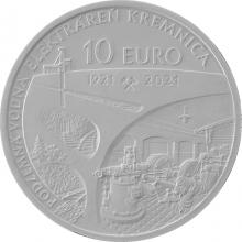 Stříbrná mince Podzemní vodní elektrárna v Kremnici - 100. výročí 2021 Standard