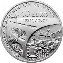 Strieborná minca Podzemná vodná elektráreň v Kremnici - 100. výročie 2021 Standard