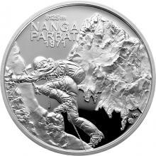 Strieborná minca Zdolanie prvej osemtisícovky slovenskými horolezcami - 50. výročie 2021 Proof