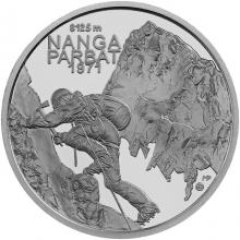 Strieborná minca Zdolanie prvej osemtisícovky slovenskými horolezcami - 50. výročie 2021 Standard