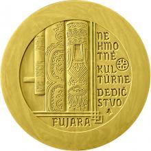 Zlatá mince Nehmotné kulturní dědictví SR - Fujara, hudební nástroj a jeho hudba 2021 Proof