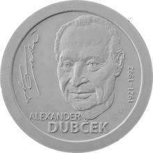 Stříbrná mince Alexander Dubček - 100. výročí narození 2021 Standard