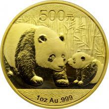 Zlatá investiční mince Panda 1 Oz 2011