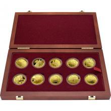 Sada 10 zlatých mincí Hrady Českej republiky 2016 - 2020 Proof