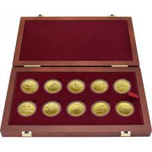 Sada 10 zlatých mincí Hrady Českej republiky 2016 - 2020 Standard
