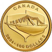 Zlatá mince Bluenose - 100. výročí 2021 Proof